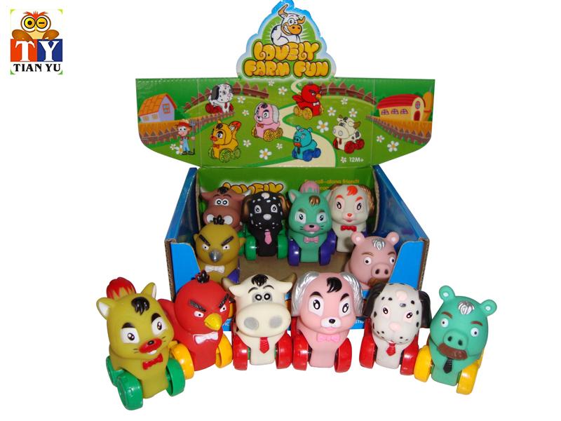 Free wheel car animal car toy cartoon animal toy