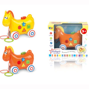 B/O horse toy pull along animal toy cartoon horse with music