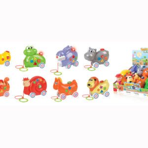 B/O animal toy pull along animal toy cartoon toy with music