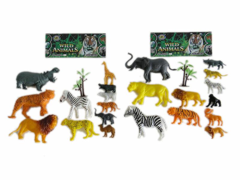 11pcs wild animals toy animal world Toy animal set
