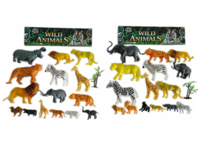 15pcs wild animals toy animal world Toy animal set
