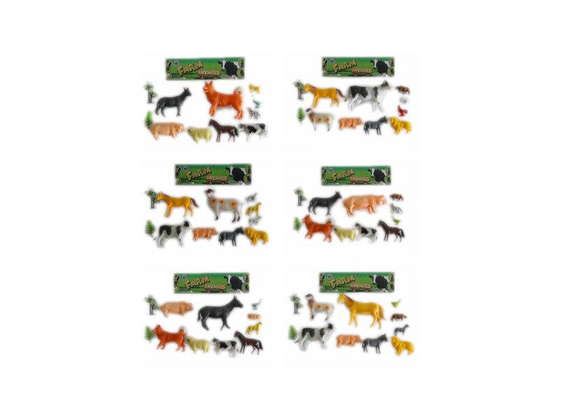 9pcs farm animals toy animal world Toy animal set