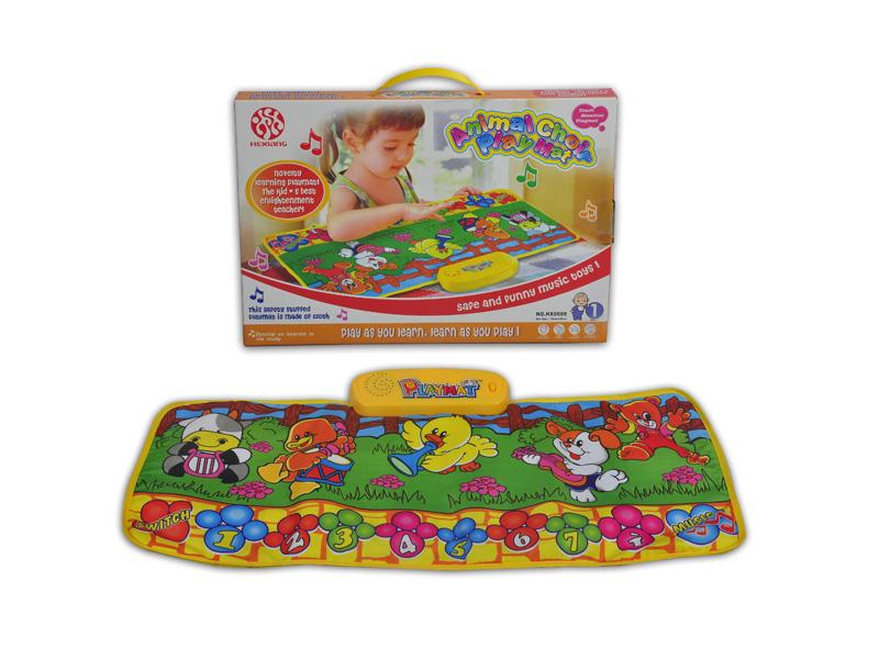 Baby toy music playmat animal playmat