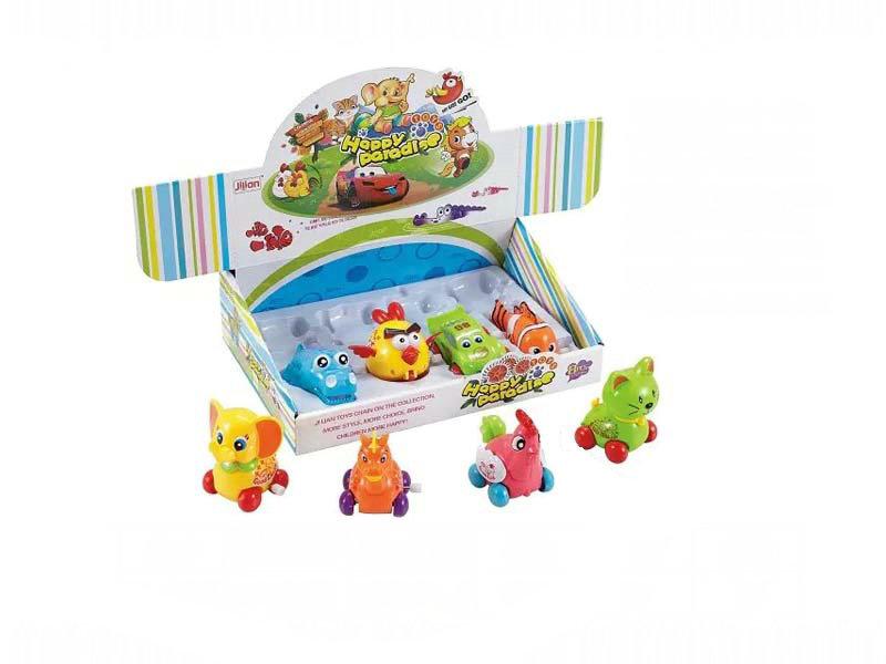 Wind up toy animal car toy cartoon toy
