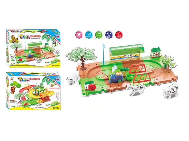 electric rail train building block toy Intelligent toy