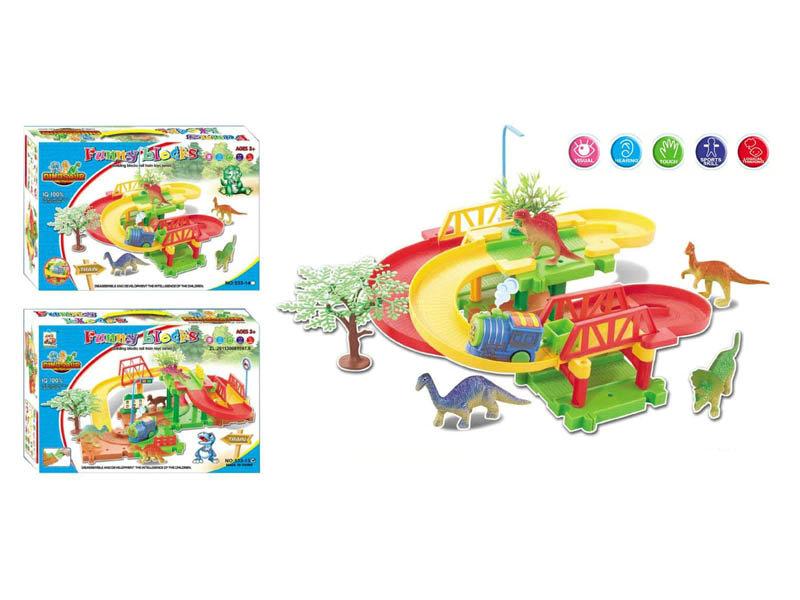 Building block toy electric rail train Intelligent toy