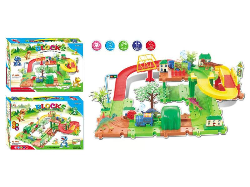 Rail train toy building block toy Intelligent toy