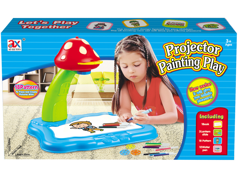 Projector board toy drawing board toy educational toy