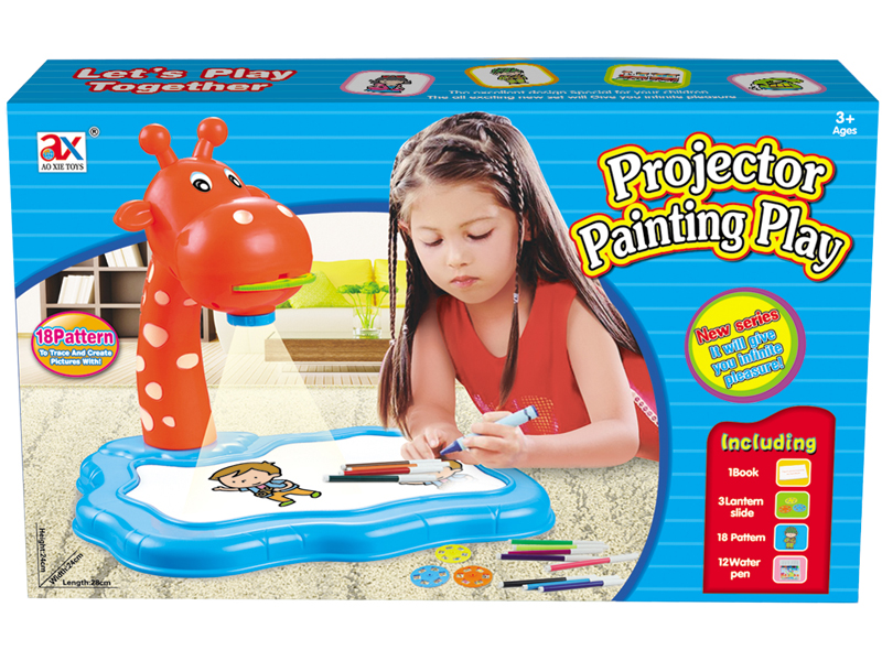 projector painting toy drawing board toy educational toy