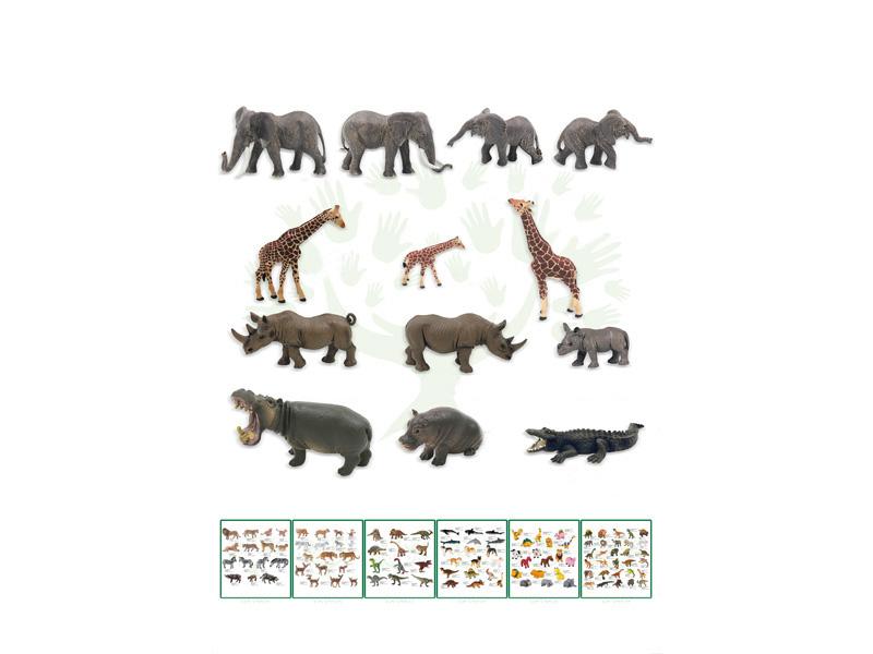 PVC animal set 13pcs animal toy animal world