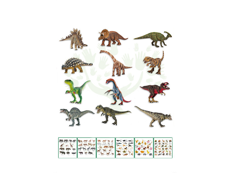 PVC dinosaur toy 13pcs dinosaur set animal world