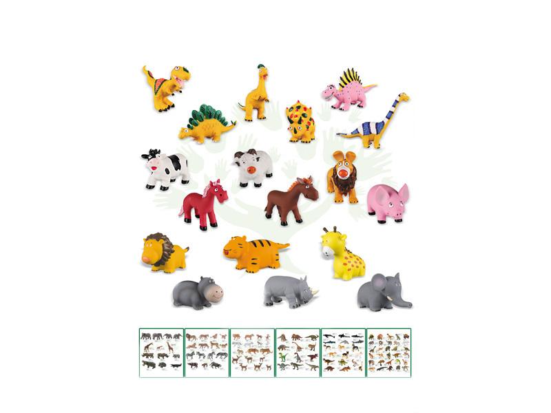 Vinyl dinosaur toy 10pcs dinosaur set animal world
