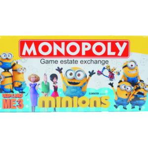 Monopoly game Minions monopoly toy cartoon toy