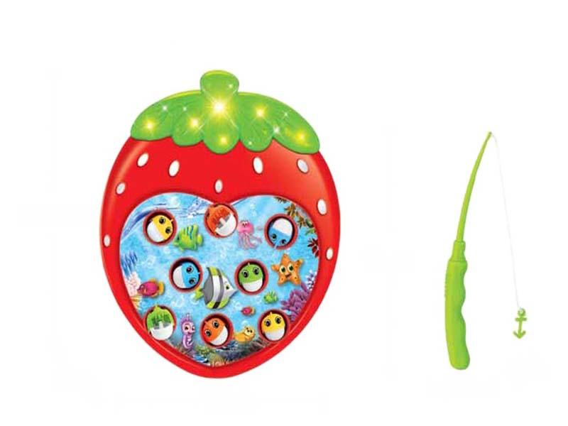 Fishing game strawberry shape game funny toy