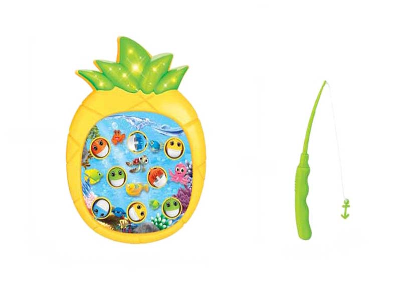 Fishing toy funny game toy pineapple shape game