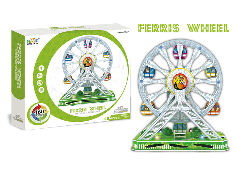 B/O ferris wheel B/O toy with with light and music plastic toy