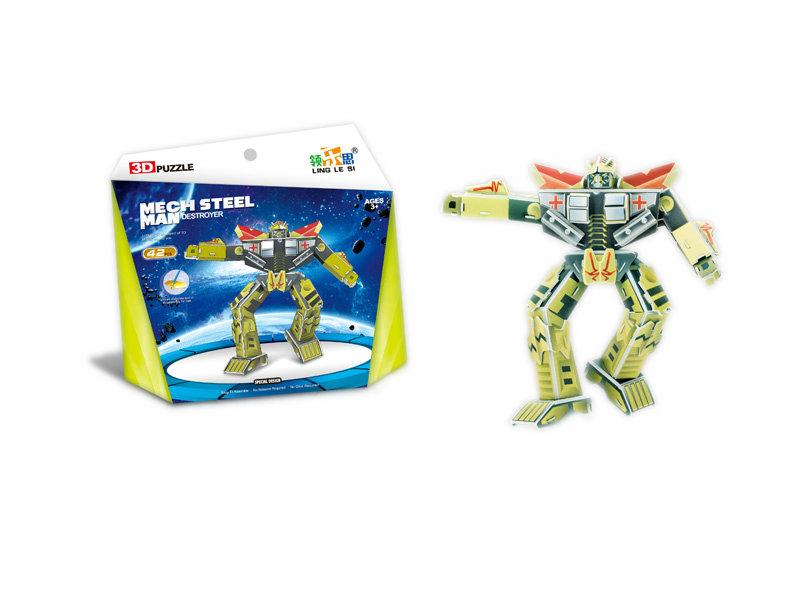 3D puzzle toy robot series puzzle intelligent toy