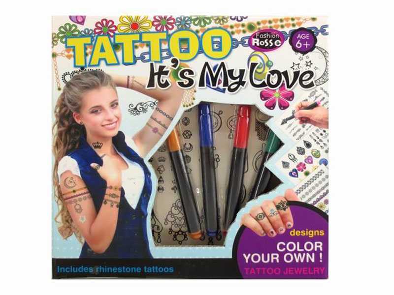 DIY tattoo toy cosmetics set toy beauty toy