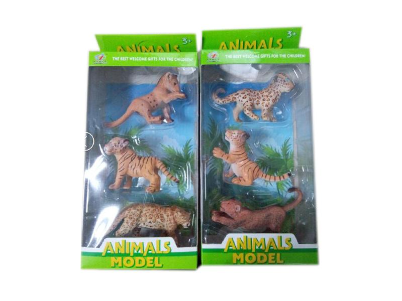 Wild animal toy figure toy set 3pcs animal toy