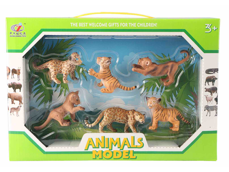 Wild animal toy figure toy set 3pcs animal toy