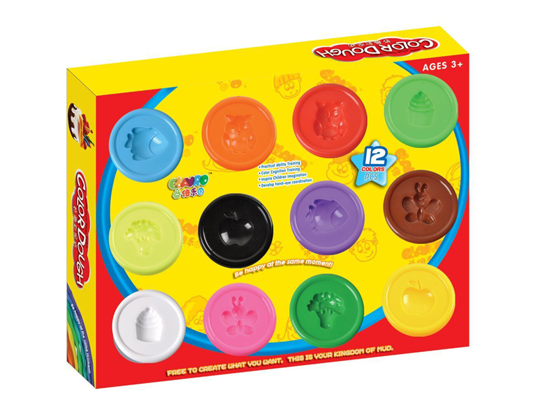 12 color dough clay play toy educational toy