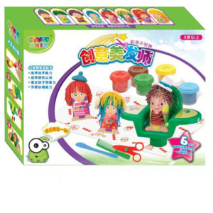 Hairdresser color dough clay play toy educational toy