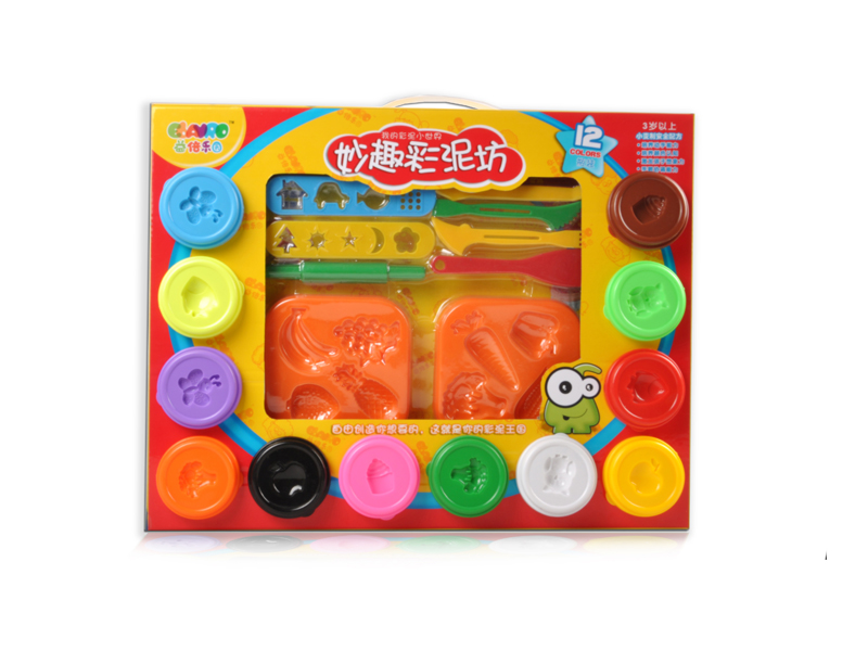 12 color dough clay toy with tool educational toy