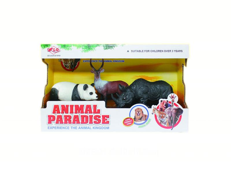 Animal toy 2pcs wild animal set animal world