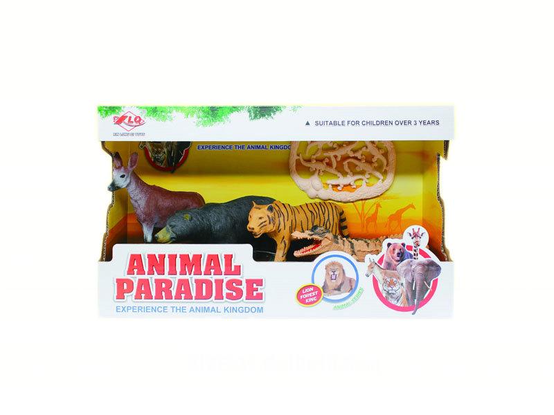 Wild animal set 2pcs animal toy animal world
