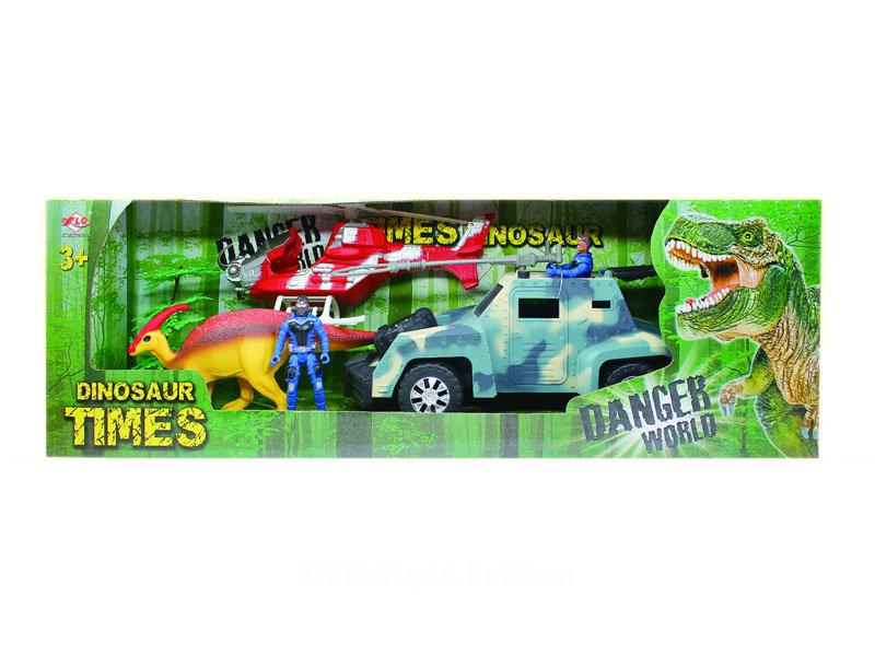 Dinosaur rescue set dinosaur world rescue toys with car
