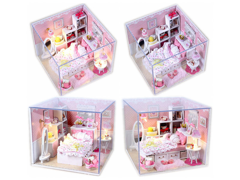 Doll house model DIY assembly toy educational toy