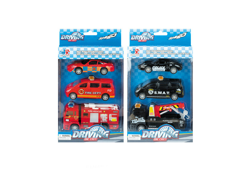 fire engine car toy vehicle pull back toy