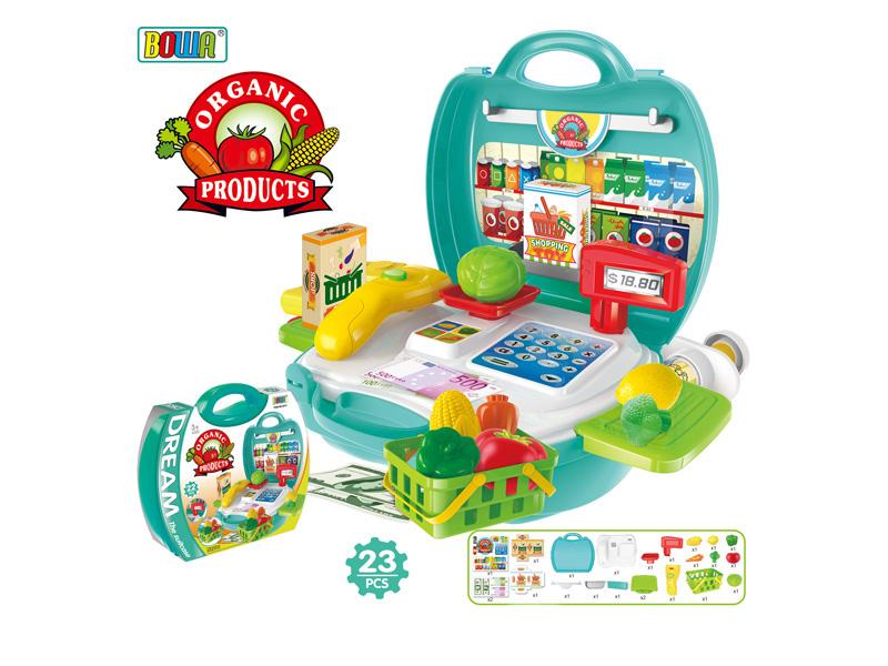 supermarket set toy plastic toy pretending play toy