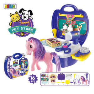 pet suitcase interesting toy cute toy set