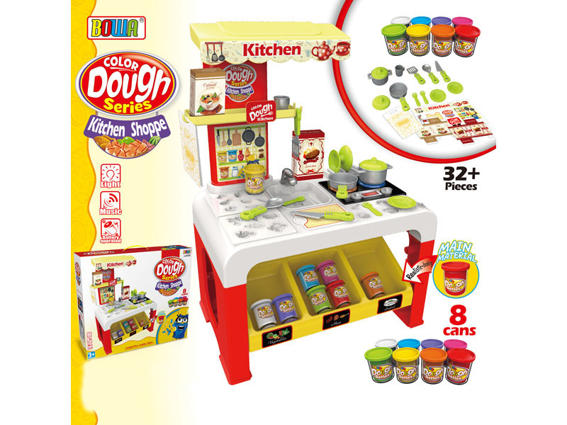 dough toy diy toy kitchen set toy