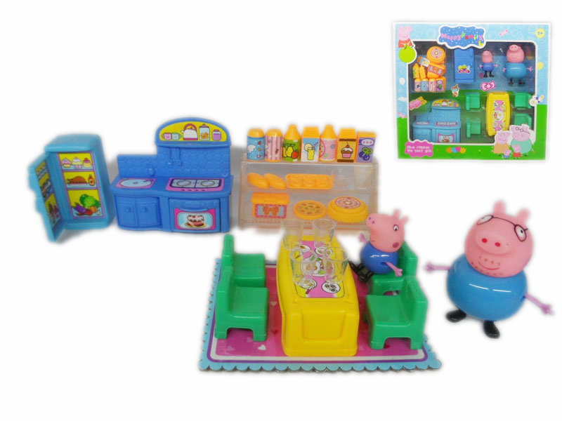 peppa pig family cartoon toy cute toy