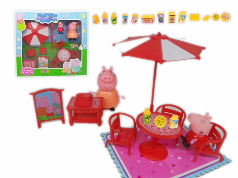 cartoon set toy peppa pig toy plastic toy