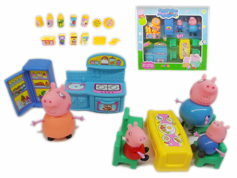 cartoon family toy peppa pig toy cute toy