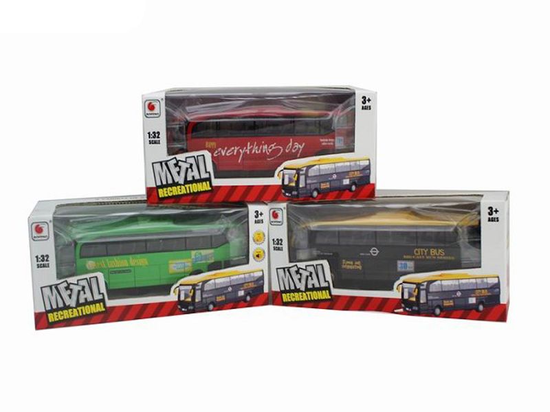 bus toy metal vehicle pull back toy