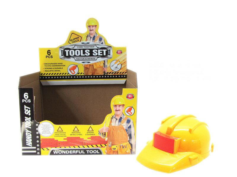 helmet toy cute toy workman toy