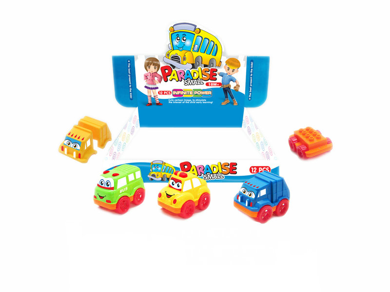brick toy cartoon car toy friction power toy
