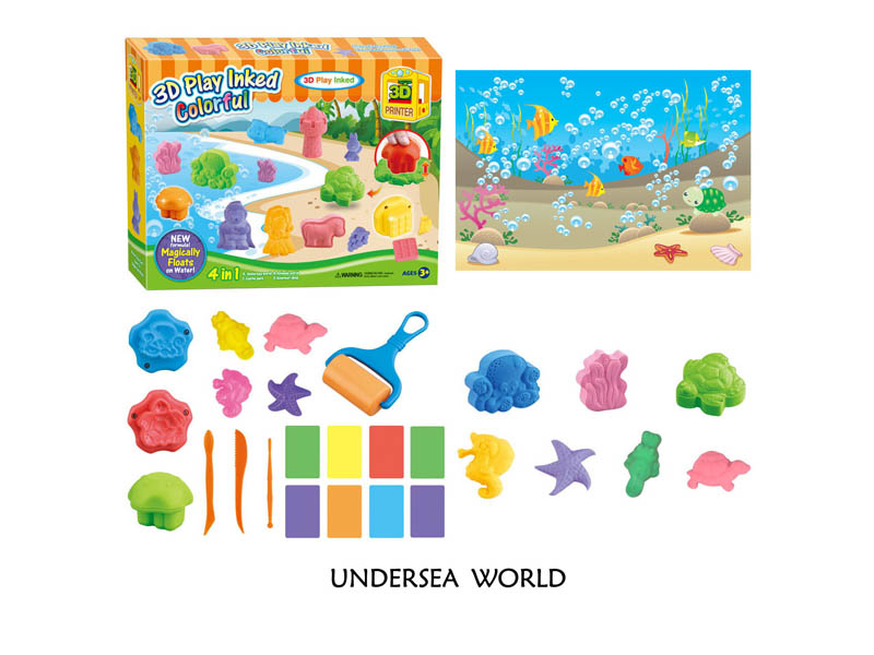 DIY play inked magic sand toy funny toy