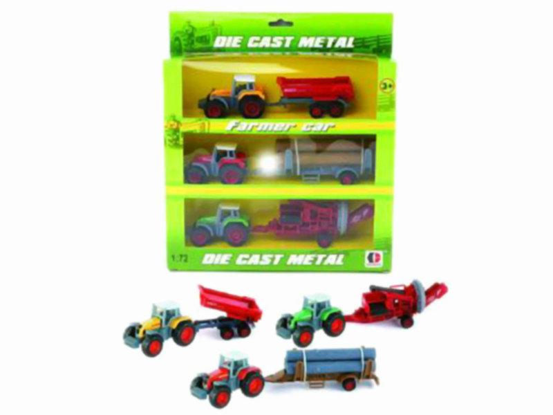 farmer toy car free wheel toy metal vehicle