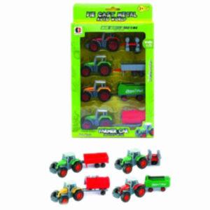 farmer trucks set metal vehicle free wheel toy