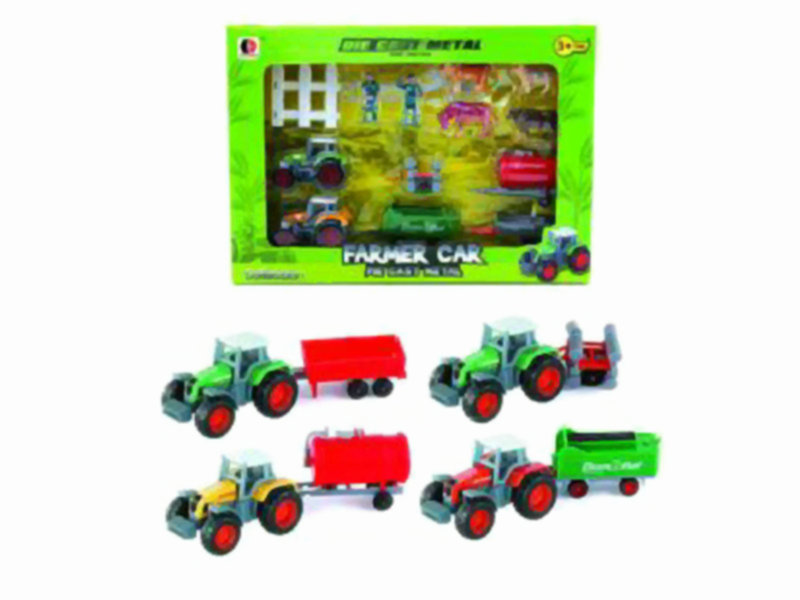 farmer car set cute toy free wheel toy
