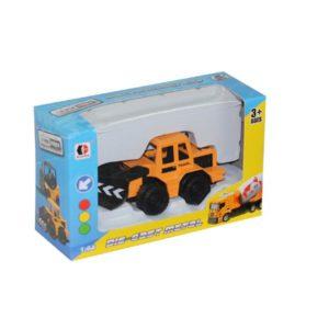 engineering truck toy metal vehicle free wheel toy