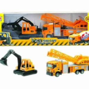 engineering truck set free wheel toy cute vehicle toy