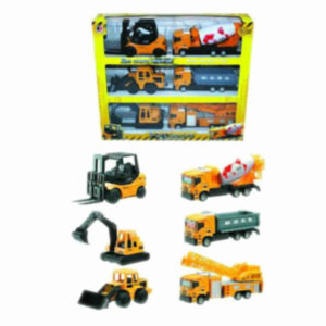 construction truck set metal vehicle free wheel toy