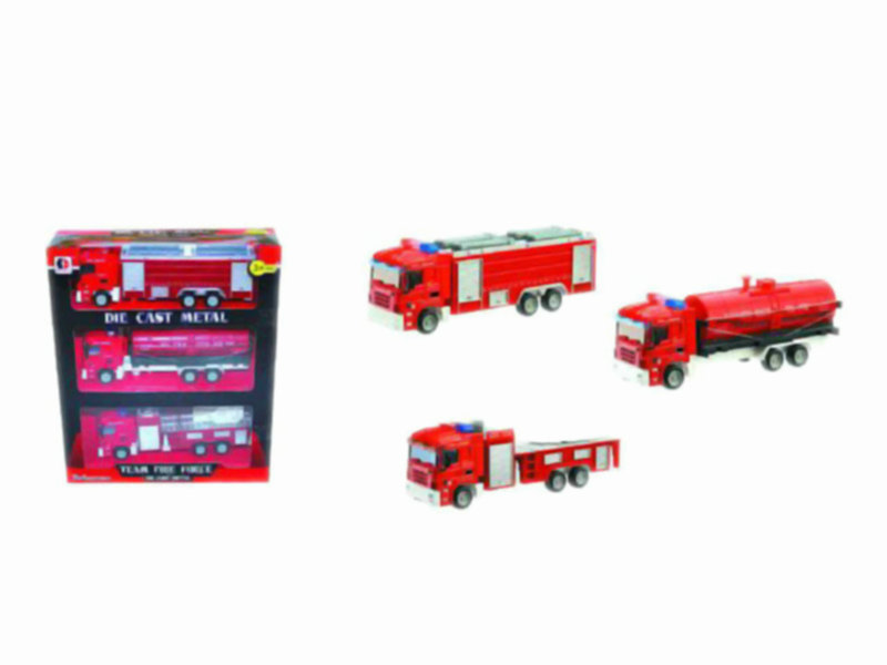fire engine set metal truck toy funny toy