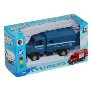 police car free wheel toy metal vehicle